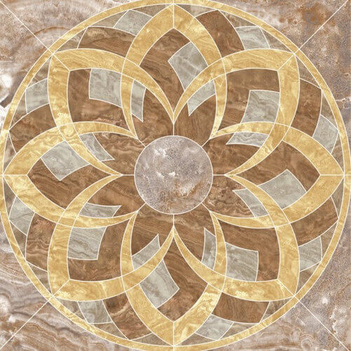 Напольная плитка Kerranova Premium Marble Roseton Light Brown 120x120